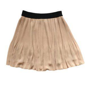Pleione Mico Pleated Skirt Small Nude Black Mini